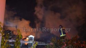 Λαμία: Σπίτι έγινε στάχτη από φωτιά – Σώθηκε η γιαγιά μετά το βραχυκύκλωμα στη σόμπα της [pic, vid]