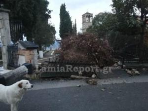 Λαμία: Αποκαλυπτικές εικόνες καταστροφής σε σπίτια και δρόμους από την κακοκαιρία – Ξηλώθηκαν ακόμα και σκεπές [pics]