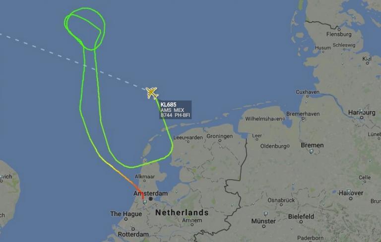 Τρόμος στον αέρα! Σήμα κινδύνου μετά την απογείωση από το Άμστερνταμ   Newsit.gr