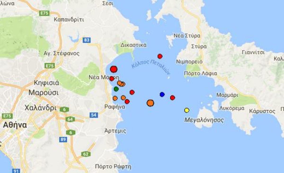 Σεισμός: 15 δονήσεις σε Μαραθώνα, Νέα Μάκρη, Ραφήνα – Τι λένε οι σεισμολόγοι για το φαινόμενο