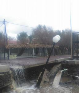 Λέσβος: Zημιές στο οδικό και στο αγροτικό οδικό δίκτυο από την κακοκαιρία
