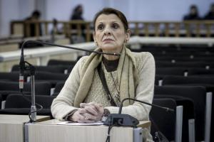"""Δίκη Χρυσής Αυγής: """"Καίει"""" Κασιδιάρη και Παναγιώταρο η Μαρία Κανελλοπούλου"""
