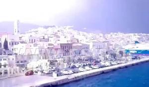 Σύρος: Βγήκαν στο κατάστρωμα του Blue Star Naxos και είδαν αυτές τις εικόνες – Το σπάνιο θέαμα [pic, vid]