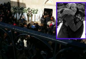 Θρήνος στην κηδεία του Χρήστου που σκοτώθηκε στο πολύνεκρο τροχαίο της Κρήτης [pics]