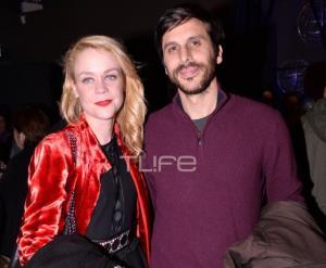 Λένα Παπαληγούρα: Με τον σύντροφό της σε θεατρική παράσταση!