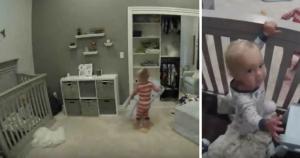 Μωρό είναι… εγκλωβισμένο στην κούνια – Η λύση του μεγάλου αδερφού «έριξε» το διαδίκτυο