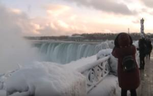 Εκπληκτικό βίντεο από τους παγωμένους καταρράκτες του Νιαγάρα