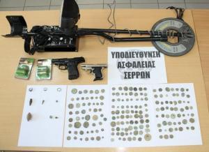 Σέρρες: Με πολλά αρχαία νομίσματα και αντικείμενα πιάστηκε 63χρονος [pics]
