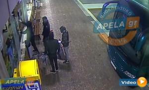 Στην κάμερα η κλοπή σε μίνι μάρκετ στη Λακωνία [vid]