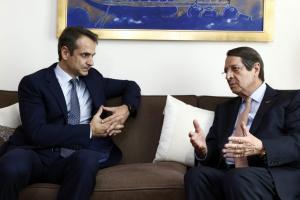 Επικοινωνία Μητσοτάκη – Αναστασιάδη για την τουρκική προκλητικότητα