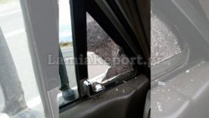 Λαμία: Πέταξαν πέτρα… για πλάκα σε οδηγό εν κινήσει! [pic]
