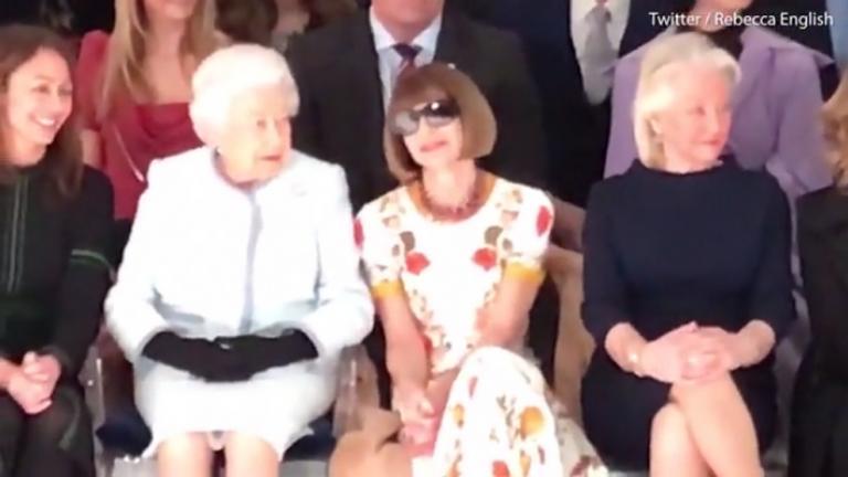 Η βασίλισσα Ελισάβετ για πρώτη φορά στην Εβδομάδα Μόδας του Λονδίνου [vid]