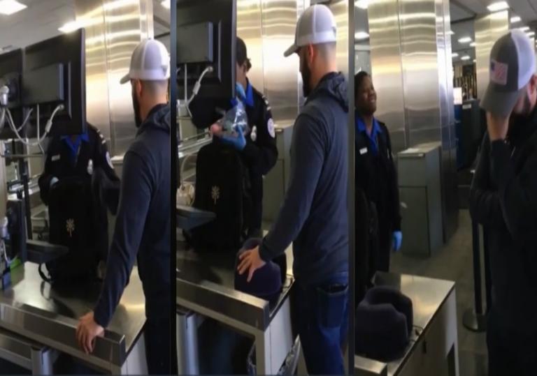 Ρεζίλι στο αεροδρόμιο! Η… πονηρή φάρσα πατέρα στο γιο του! [vid] | Newsit.gr