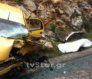 Εύβοια: Νεκρός αστυνομικός σε τροχαίο στο Αλιβέρι [pics]