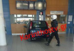 Κόρινθος: Αυτοκίνητο μπήκε στα εκδοτήρια του Προαστιακού! [vid]