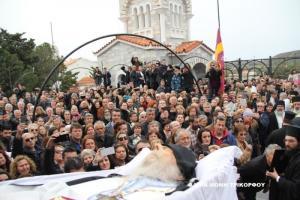 Κοσμοσυρροή στο τελευταίο «αντίο» στον Γέροντα Νεκτάριο Βιτάλη [pics]