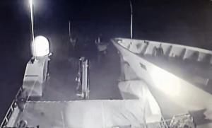 Ίμια: Βίντεο ντοκουμέντο από την στιγμή που το τουρκικό πλοίο πέφτει πάνω στο «Γαύδος»