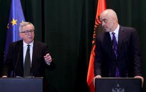Γιούνκερ: Η θέση της Αλβανίας είναι στην Ε.Ε – Είμαστε στο πλευρό σας