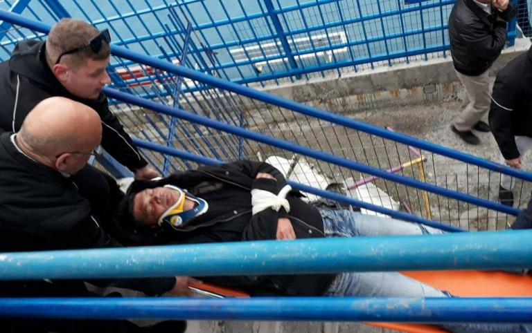 Εθνικός – Προοδευτική: Ξύλο στην εξέδρα! Αναίσθητος ο γενικός αρχηγός των φιλοξενούμενων  [pic, vid] | Newsit.gr