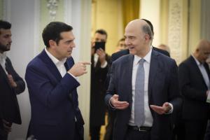 Συνάντηση Τσίπρα με Μοσκοβισί και τον πρόεδρο της Γεωργίας