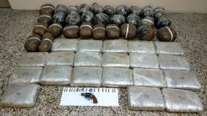 Καστοριά: «Μπλόκο» της αστυνομίας σε 61 κιλά χασίς