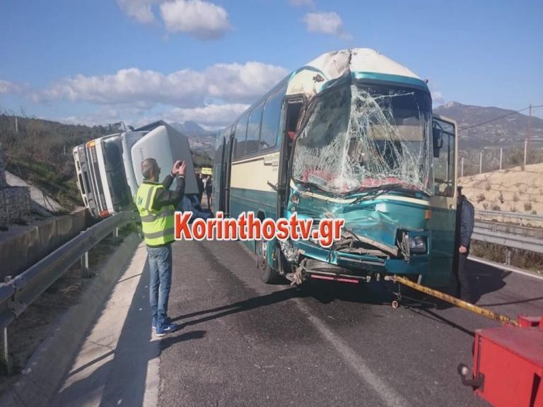 Πελοπόννησος: Τροχαίο στην Κορίνθου Τρίπολης με 3 τραυματίες – Σύγκρουση λεωφορείου με φορτηγό [pics] | Newsit.gr
