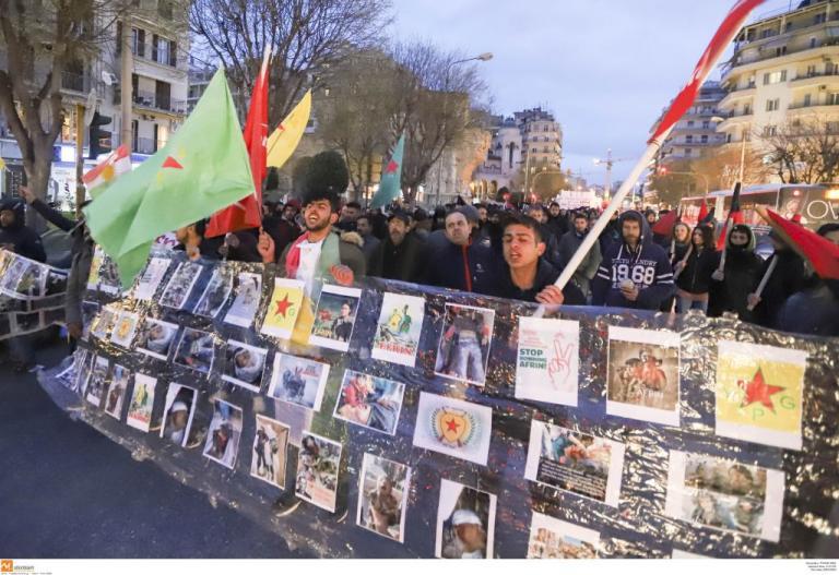 Συγκέντρωση και πορεία αλληλεγγύης για την Αφρίν στην Θεσσαλονίκη [pics]   Newsit.gr