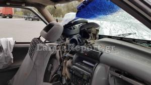 Νεκρός οδηγός μετά από απίστευτη καταδίωξη στην εθνική οδό – Συγκλονιστικές εικόνες στο σημείο – Αυτοκίνητο πήγαινε ανάποδα [pics]