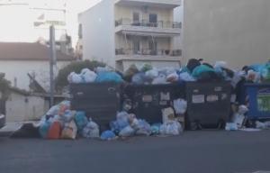 Βουνά τα σκουπίδια στο Αίγιο [vid]