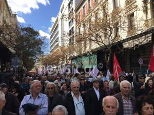 Συγκέντρωση και πορεία των συνταξιούχων ενάντια στις περικοπές