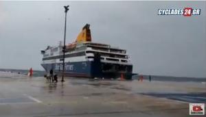 Μάχη του Blue Star Delos για να δέσει στη Τήνο – Συγκλονιστικό βίντεο