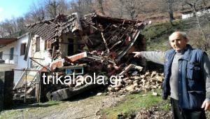 Πέφτουν σπίτια από τις κατολισθήσεις στην Καρδίτσα [vid]