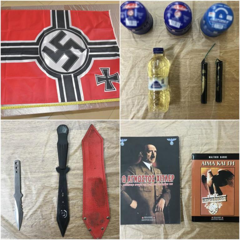 Αυτά είναι τα ευρήματα από τις γιάφκες της νεοναζιστικής «Combat 18» | Newsit.gr