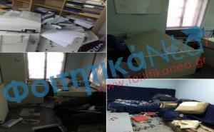 Γυαλιά καρφιά τα γραφεία της ΔΑΠ – ΝΔΦΚ στο Πολυτεχνείο – Η άγρια επίθεση [pics]