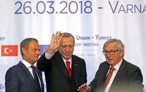 """Προκλητικότατος Ερντογάν! Έκανε """"ραμπιά"""" και στην Βάρνα! [pics]"""