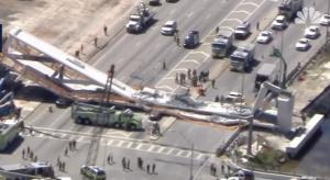 Τρόμος στη Φλόριντα: Κατέρρευσε πεζογέφυρα – Πολλοί τραυματίες
