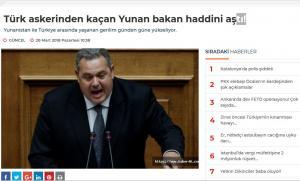 Προκαλούν οι Τούρκοι: Ο Καμμένος είδε Τούρκους στρατιώτες στα Ίμια και έφυγε χωρίς να κοιτάξει πίσω