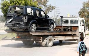 Έκρηξη στην αυτοκινητοπομπή που μετέφερε τον Παλαιστίνιο Πρωθυπουργό! [pics]