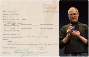 Κειμήλιο αξίας… 175.000 δολαρίων! Όταν ο Steve Jobs έκανε αίτηση για δουλειά!