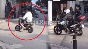 Λαμία: 10.000 ευρώ θα στοιχίσει στον νεαρό η «τρελή» βόλτα με το μηχανάκι