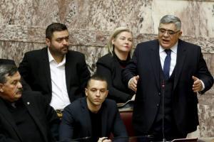 Χρυσή Αυγή: 25% μείωση στην βουλευτική αποζημίωση για Μιχαλολιάκο, Κασιδιάρη και Ηλιόπουλο