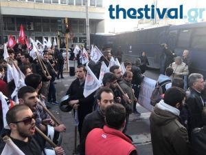 Θεσσαλονίκη: Τους «μπλόκαραν» για να μη φτάσουν κοντά στον Τσίπρα [vid]