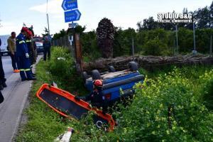 Τροχαίο δυστύχημα με έναν νεκρό στο Ναύπλιο – Ανατράπηκε το ΙΧ, εγκλωβίστηκε ο οδηγός [pics]