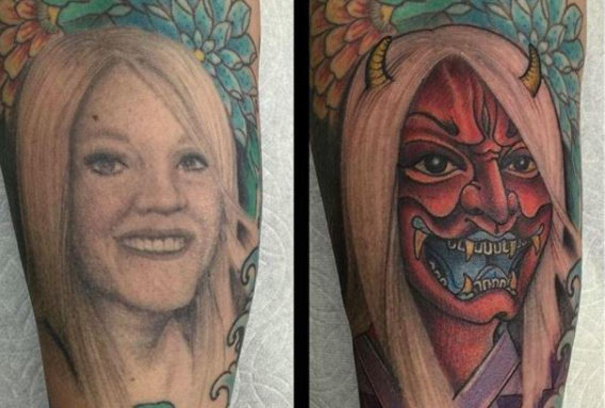 Πήρε διαζύγιο και μετέτρεψε το τατουάζ με τη γυναίκα του σε διάβολο!