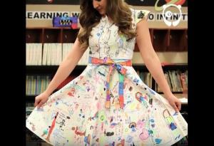 Δασκάλα άφησε τους μαθητές να μετατρέψουν το φόρεμά της σε έργο Τέχνης