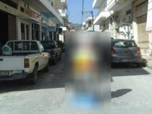Κρήτη: Έτσι έκλεισε ο δρόμος μετά από ατύχημα – Εικόνες για… όσκαρ εφευρετικότητας [pics]