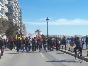 Ολοκληρώθηκε η πορεία των αντιεξουσιαστών στη Θεσσαλονίκη