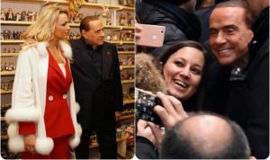 """Ιταλία – εκλογές: Forza… Μπερλουσκόνι! Με την """"εκρηκτική"""" σύντροφό του στη Νάπολη"""