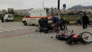 Σοβαρό τροχαίο στη Λαμία – Τραυματίστηκε οδηγός μηχανής [pics]