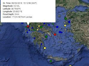 Σεισμός κοντά στη Λευκάδα